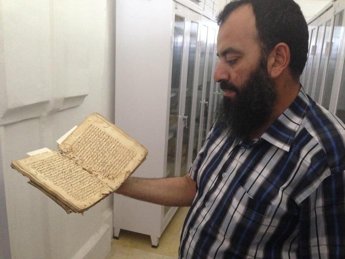 يوسف الاوزبكي، امين المخطوطات والمطبوعات القديمة في المسجد الأقصى