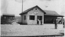 صورة قديمة لمحطة ببيسان ضمن خط حيفا - درعا